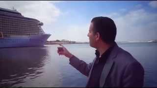 عبور أكبر سفينة ركاب فى العالم قناة السويس مايو 2015