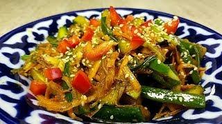 Сосед кореец научил меня готовить этот салат. Невероятные  огурцы по корейски. Покоряет сразу