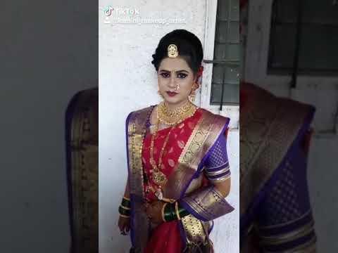 Maharashtrian Traditional  Bridal Makeup # Tiktok