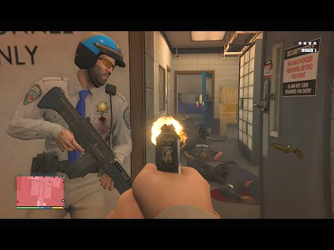 GTA 5 Michael And Trevor's Police Station Assault/Five Star Escape