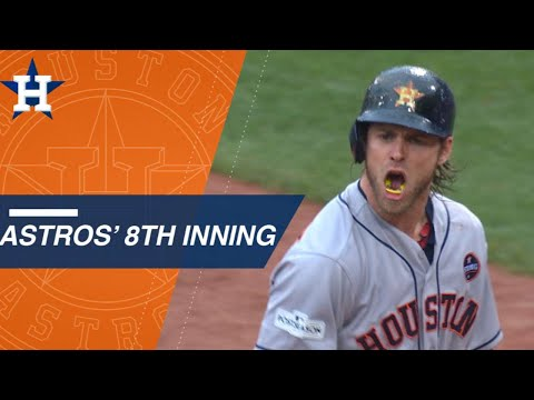 Astros score two in the 8th to take the lead