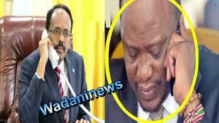 Farmaajo oo khadka telefoonka kula hadlay dhiggiisa Uhuru Kenyatta