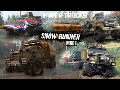Best Hyper Trucks [JBE MODS] for SnowRunner | Pacific P16, Voron D, Tatarin, Freightliner M916A1