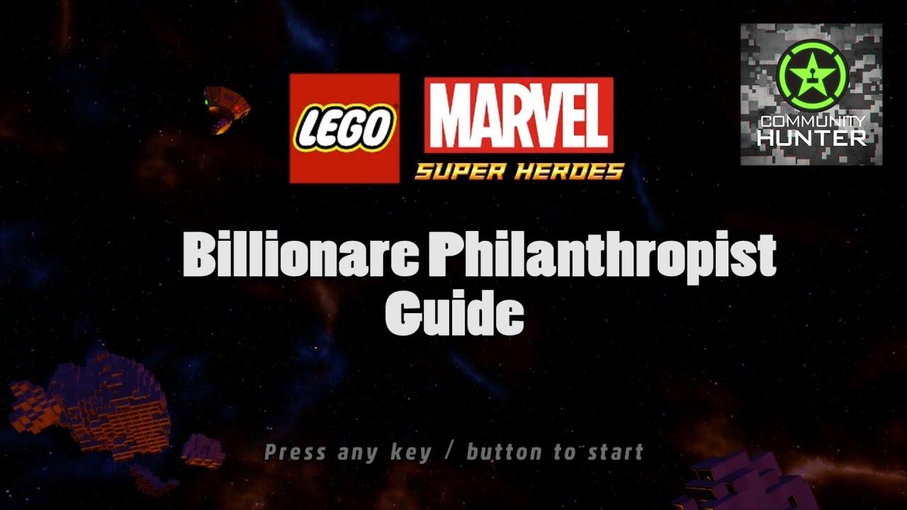 Billionaire Philanthropist Guide - LEGO Marvel Superheroes