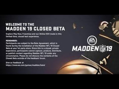 Madden 19 Beta Codes Released To Community