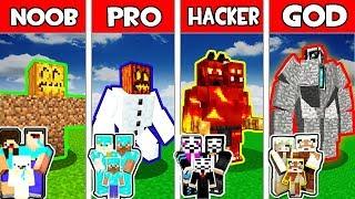 Minecraft - Noob Vs Pro Vs Hacker Vs God  Family Golem Mutant Evolution In Minecraft Animation