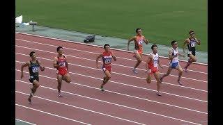 男子200m決勝 ★全日本実業団陸上 2019.9