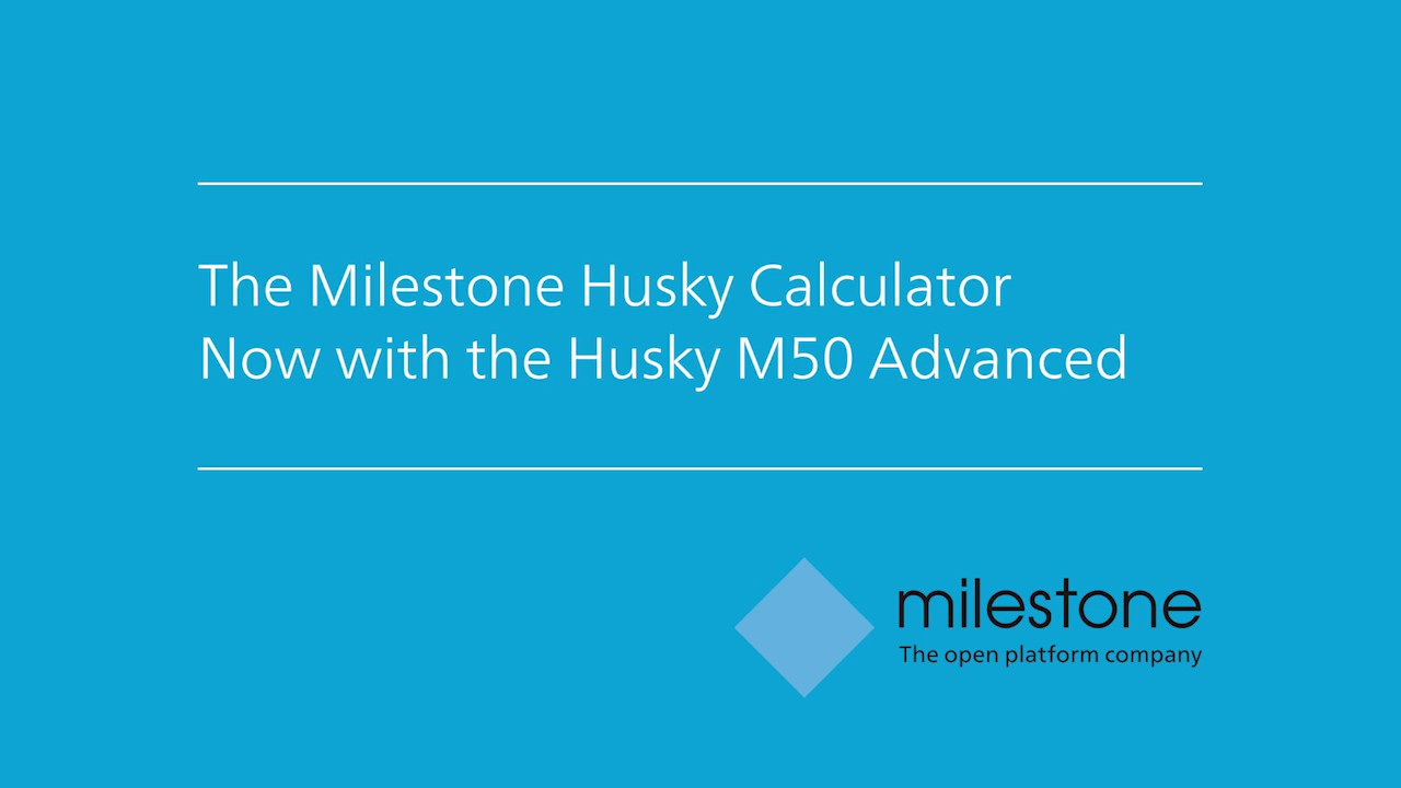 How to Use the Milestone Husky™ Calculator