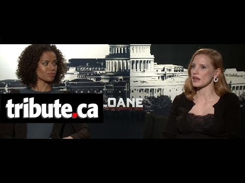 Jessica Chastain & Gugu Mbatha-Raw Interview - Miss Sloane