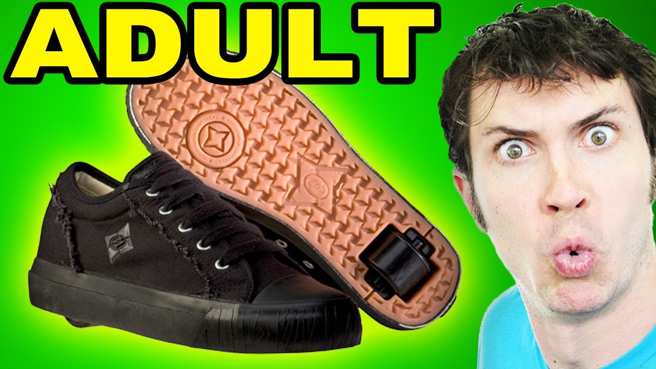 wearing heelys Adults