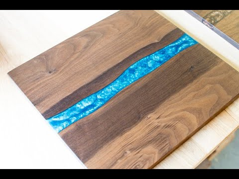 Walnut cutting boards with epoxy resin