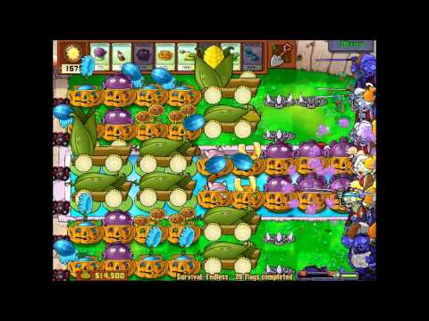 Plants vs Zombies Survival Endless Pro Build