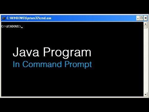 Java Program In Command Prompt