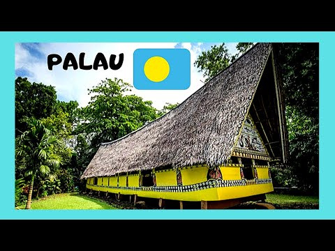 PALAU, visiting a spectacular COMMUNITY MEETINGHOUSE (BAI) in KOROR (WESTERN PACIFIC)