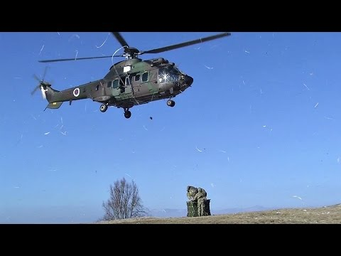 Slovenian Air Force Eurocopter AS532 Sling Load