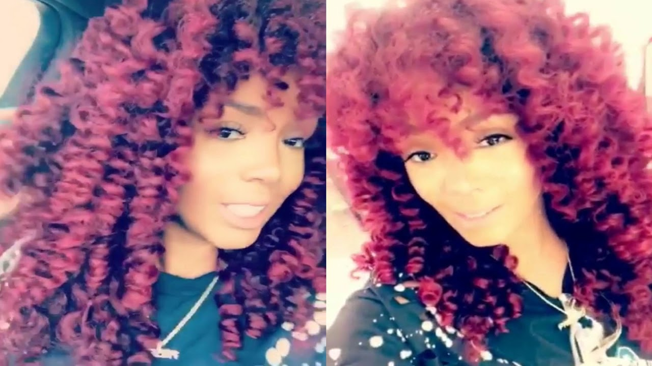 Rasheeda Frost New Hairdo New Red Color And Curly Style