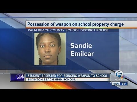 Student arrested for bringing weapon to school
