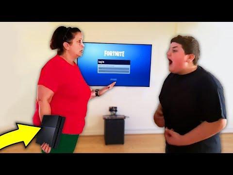 kid SLAPS mom to get his PS4 back.. (fortnite)