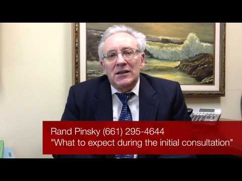 Valencia CA Divorce Lawyer Rand Pinsky regarding the first consultation