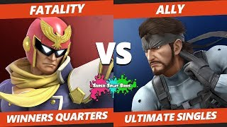 Smash Ultimate Tournament - ESE | Fatality (Falcon) Vs. Ally (Snake) Splat Bros. SSBU WQ