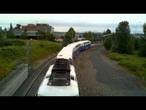 Sounder Commuter Train 1705 Departing Everett