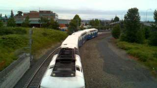 Sounder Commuter Train 1705 Departing Everett