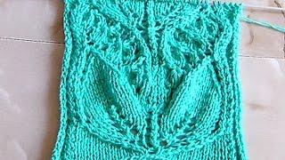 Ажурный узор ЛАНДЫШИ ЧАСТЬ 1 Вязание спицами Видеоурок 128