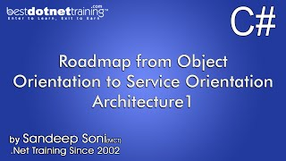 Roadmap from Object Orientation to Service Orientation Architecture - Part1