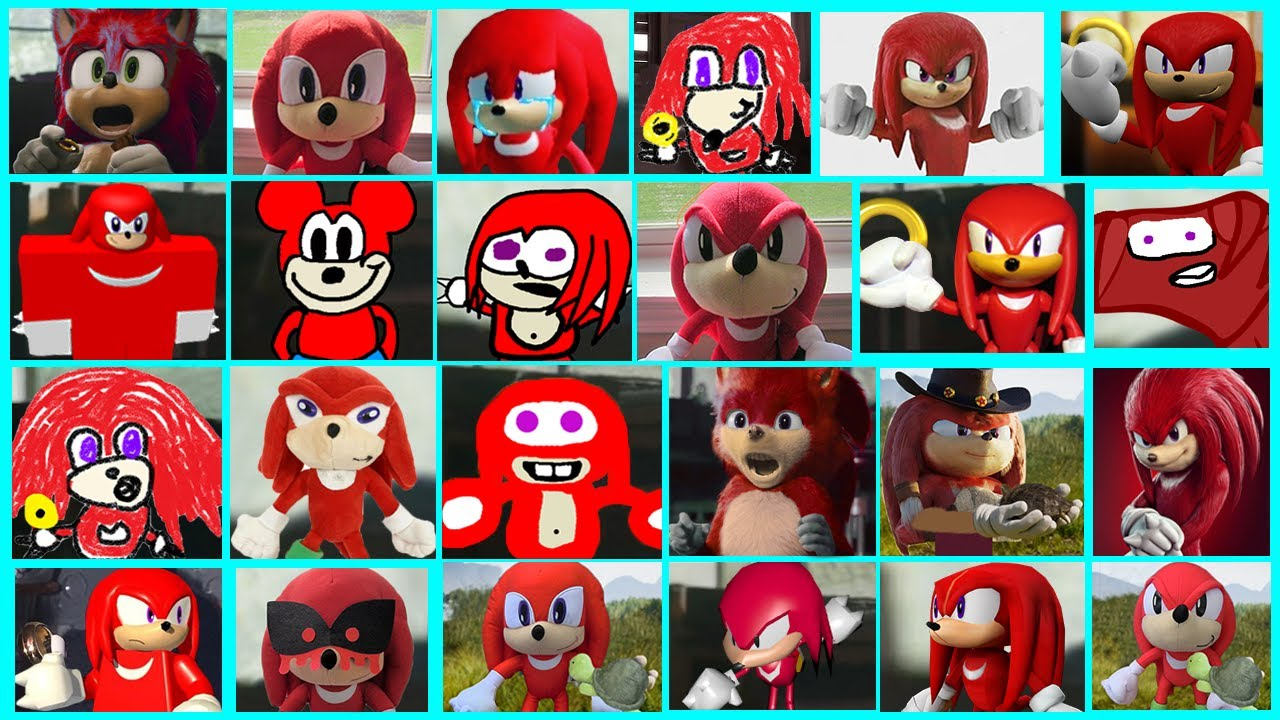 Sonic The Hedgehog Movie Knuckles Uh Meow All Designs Compilation Youtube