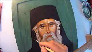 Икона Святого Пасисий Святогорца. Клобук