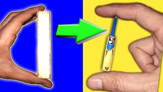 How To Make Cricket Bat for Key Chain | CRAFT TUBE | #01
