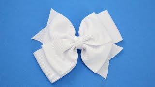 Passo a passo: Laço de fita de gorgurão – DIY Grosgrain ribbon bow