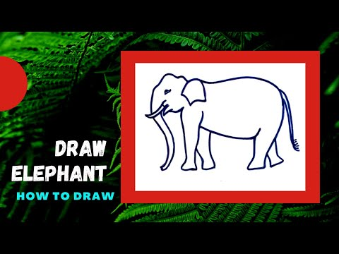 How to Draw Elephant Sketch : Easy Steps - Online Tutorial thumbnail