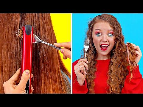 GROSSARTIGE TRICKS UND HACKS FÜR DEIN HAAR || Coole und einfache Haarideen für Mädchen von 123 GO!
