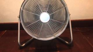 (performance video) Unknown oscillating high velocity floor fan in our friends' house