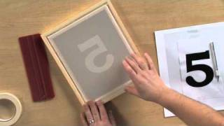 How to Screen Print Using the Stencil Technique