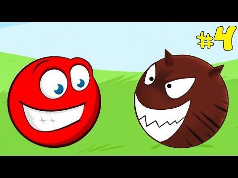 Несносный КРАСНЫЙ ШАРИК спасает любимую #4. Мультик ИГРА Red Ball 3 на Игрули TV