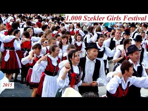 1,000 Szekler Girls Festival (Meeting and dance in Miercurea Ciuc town square, 2015)