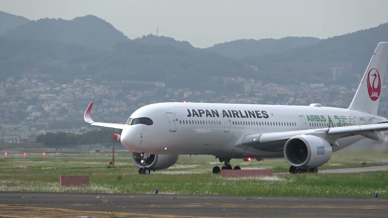 千里川の土手から観たAirBus350