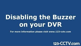 How to disable the buzzer for hard drive errors on your Security DVR