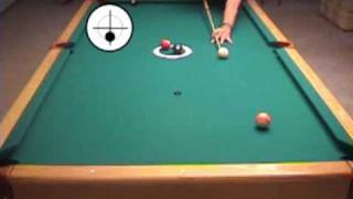 45-degree rule for center-of-table position routes in pool and billiards, from VEPS II (NV B.74)