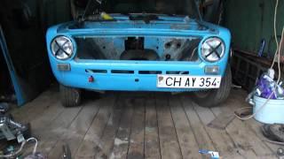 Рулевая рейка от VW Golf 2 на Ваз 2101(Все крутиться плавненько и с небольшим усилием:) Про машину http://www.drive2.ru/cars/lada/2101/2101/ferst/, 2011-07-12T18:49:40.000Z)