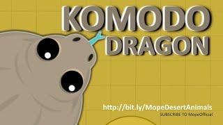 MOPE.IO //THE ULTIMATE KILLER #KomodoDragon THREATENS MOPE WORLD // #DesertUpdate # TEASER #74