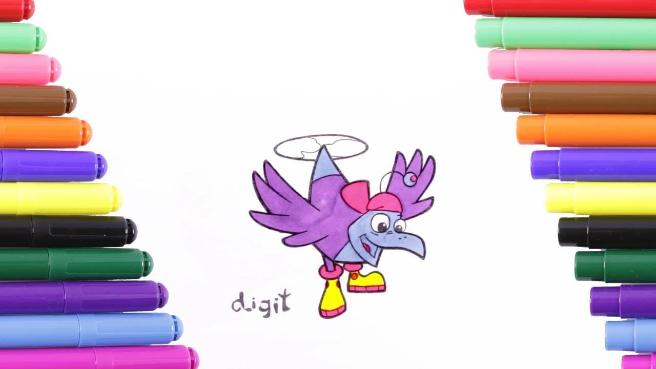 Cyberchase Digit Coloring Page For Kids, Coloring Book - YouTube