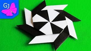 ДВИЖУЩИЕСЯ ОРИГАМИ | Звезда Ниндзя Трансформер из бумаги