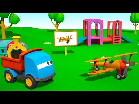 Мультфильмы для детей - Грузовичок Лева и Самолет - мультики про машинки