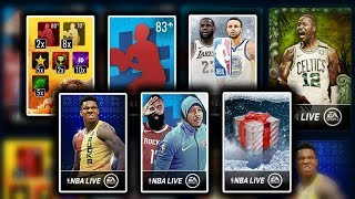 Massive Variety Pack Opening - Insane Pulls - Nba Live Mobile 19 Pack Ballers
