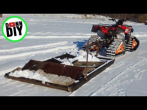 Homemade Ski Trail Groomer