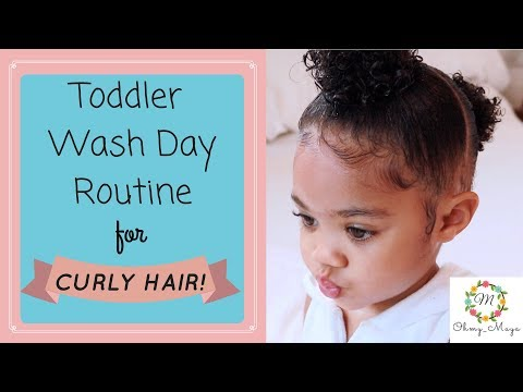 Easy Toddler Hairstyle + FULL Wash Day Routine