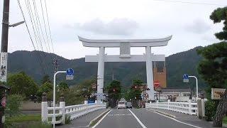2015年9月15日、出雲大社 「道の駅」ご縁広場から出雲阿国像、く...